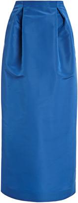 Carolina Herrera High-Rise Silk-Faille Pencil Skirt