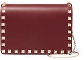 Valentino The Rockstud Leather Shoulder Bag - Red