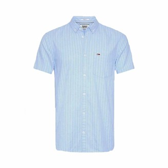 Tommy Jeans Men's TJM Shortsleeve Stripe Shirt Casual