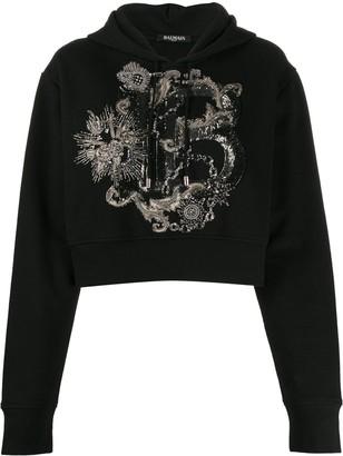 Balmain B embellished hoodie
