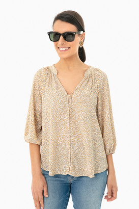 Lush Floral Safari Setton Blouse