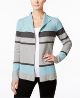 Charter Club Petite Striped Cardigan, Only at Macy's