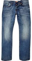 River Island Mid Blue Wash Clint Bootcut Jeans