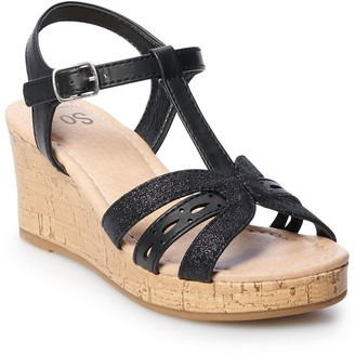 So Sheila Girls' Wedge Sandals