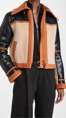 Jonathan Simkhai Adelynn Color Block Sherpa Jacket