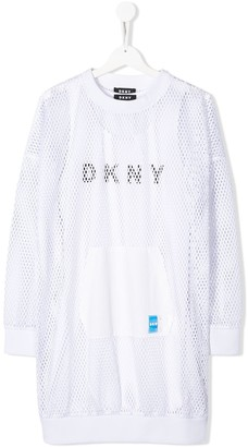 DKNY TEEN layered sports mesh dress