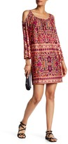 Tiana B Printed Cold Shoulder Dress