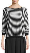 Eileen Fisher Seamless Seasonless Striped Italian Cashmere Top
