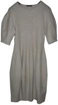Alexander McQueen Ecru Wool Dress for Women