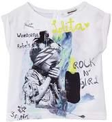 3 Pommes Baby Girls 0-24m Tee Shirt 3F10032 Plain T-Shirt