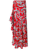 J.W.Anderson Printed Maxi Skirt - Red - Size UK10