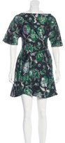 Michael Van Der Ham Brocade A-Line Dress