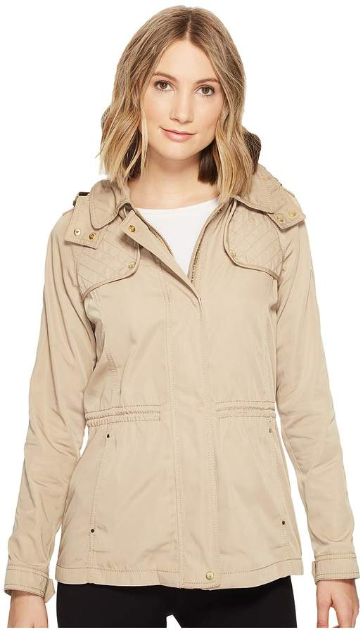 Vince Camuto Hooded Lightweight Parka with Drawstring Waist Women's Coat
