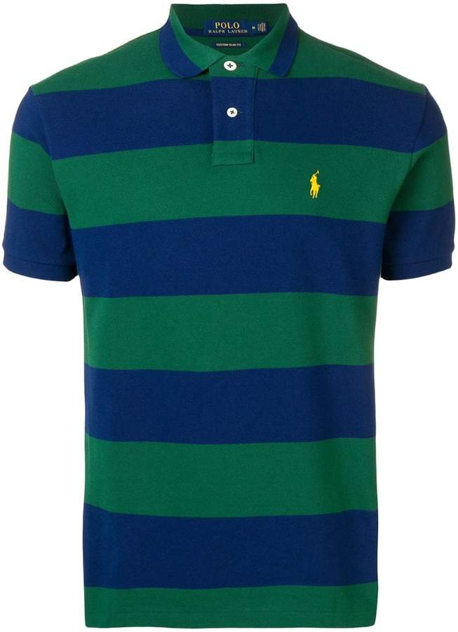 Polo Ralph Lauren striped logo polo T-shirt
