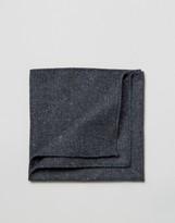 Asos Pocket Square In Navy Warm Handfeel Texture