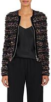 Givenchy Women's Ruffle Pansy-Print Tulle Jacket