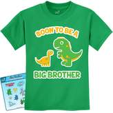 TeeStars - Soon To Be A Big Brother Best Gift - Dinosaur Raptor Kids T-Shirt