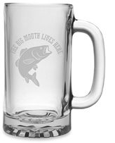 "Susquehanna Glass Etched Novelty Barware ""The Big Mouth Lives Here"" Pub Beer Mug"