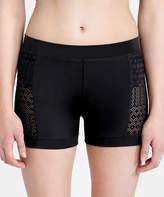 Capezio Black Mesh-Accent Victoria Shorts - Women