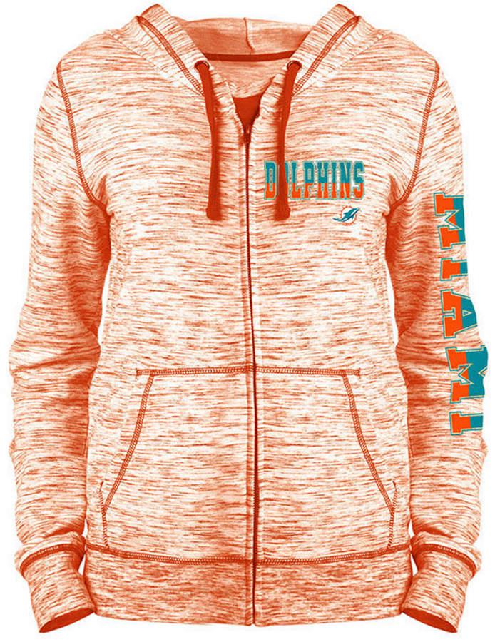 ed92c97a Women Miami Dolphins Space Dye Full-Zip Hoodie