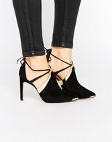 Ted Baker Ikeba Tie Up Suede Heeled Shoes