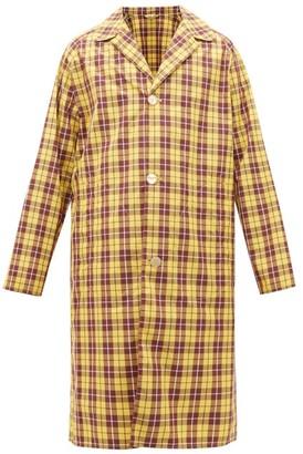 Gucci Oversized Logo-print Checked Nylon Raincoat - Yellow Multi