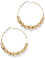 New York & Co. Sparkling Beaded Hoop Earring