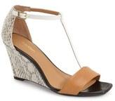 Calvin Klein 'Niall' T-Strap Wedge Sandal (Women)