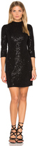 Hoss Intropia Long Sleeve Embellished Mini Dress