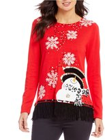 "Berek Snowman on the Fringe"" X-Mas Sweater"