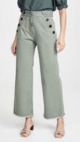 Derek Lam 10 Crosby Slim Culottes with Button Detail