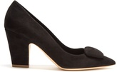 Rupert Sanderson Pierrot point-toe suede pumps
