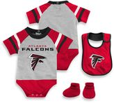 NFL Atlanta Falcons 3-Piece Creeper Bib and Bootie Set
