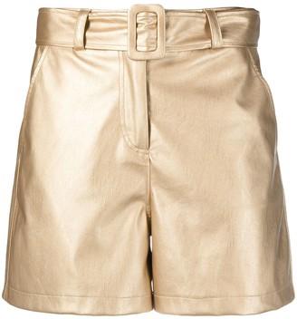 Liu Jo High-Rise Metallic Shorts