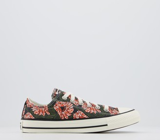 Converse All Star Low Trainers Multi Black Floral