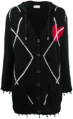 RED Valentino knitted heart cardigan