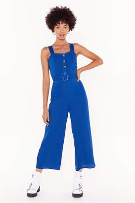 Nasty Gal Womens Let's Keep This Casual Jumpsuit - blue - 4