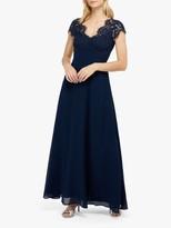 Monsoon Marne Lace Maxi Dress, Navy