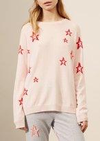 Chinti \u0026 parker Chinti & Parker 3d Slouchy Star Sweater Blush