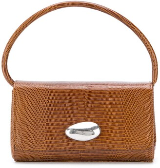 Little Liffner Baguette embossed top handle bag