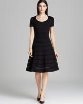 Escada Dress - Short Sleeve Mesh Cutout Jersey Donde Dress
