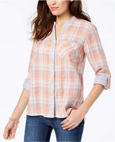 Style&Co. Style & Co Cotton Printed Utility Shirt, Created for Macy's