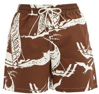 Polo Ralph Lauren Traveler Kon Tiki-print Swimshorts - Brown White