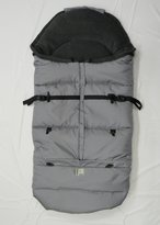 "Kutnik UNIVERSAL FOOTMUFF/SLEEPING BAG COCOON ""POLAR"" with polar fleece (GREY with GRAPHITE GREY)"