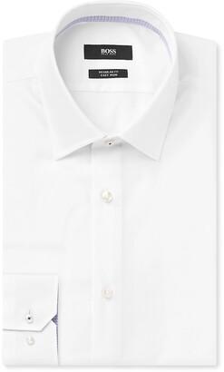 HUGO BOSS White Gelson Cotton-Poplin Shirt