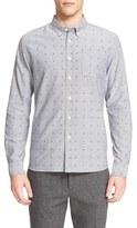 Saturdays Nyc Men's 'Crosby' Dot Print Long Sleeve Shirt