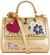 Dolce & Gabbana Metallic Leather Shoulder Bag