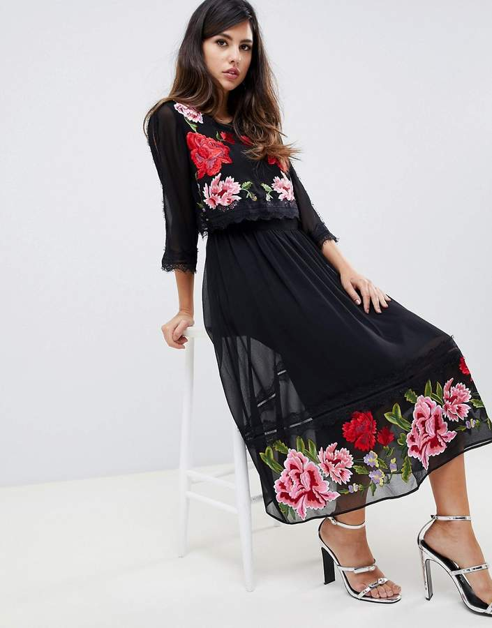 0f5f939095d Asos Embroidered Dresses - ShopStyle