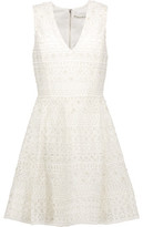 Alice + Olivia Reba Embellished Tulle Mini Dress
