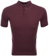 John Smedley Payton Polo T Shirt Red